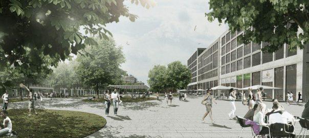 Illustration Campus Uni Stuttgart-Vaihingen. Foto: Städtebau-Institut