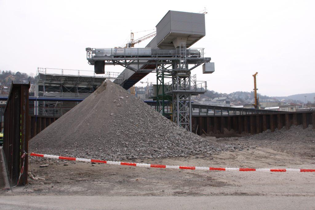 S21-Baustelle am Hauptbahnhof Stuttgart. Foto: Uwe Roth