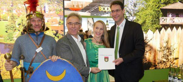 CMT 2017: Fremdenverkehrsgemeinschaft Schwäbischer Wald. Landrat Richard Sigel (re). Foto: Uwe Roth