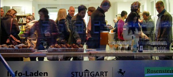 """Einweihung des """"Gläsernen Büros"""" in der Stuttgarter Nordbahnhofstraße. Foto: Uwe Roth"""
