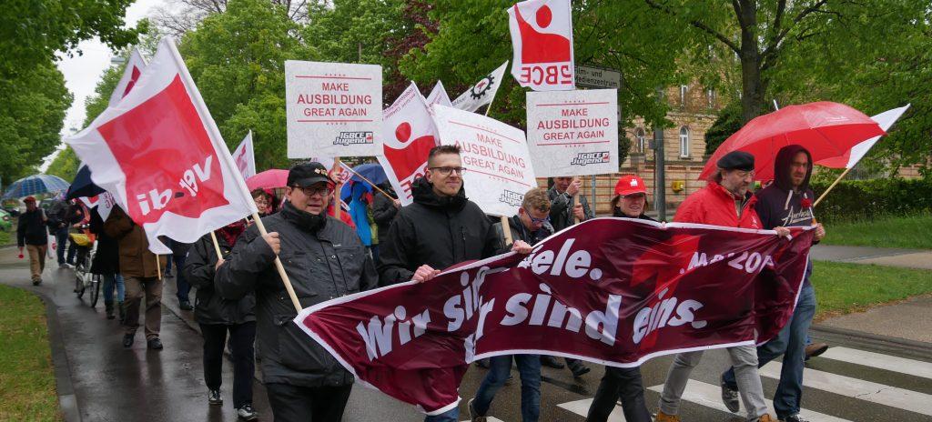 1.-Mai-Demonstration DGB Ludwigsburg. Foto: Uwe Roth