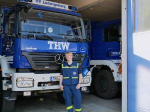 Tobias Hilbers ist seit er 16 Jahre alt ist, Mitglied beim THW-Ortsverband Ludwigsburg. Heute ist der 23-Jährige zuständig für die Jugend- und Öffentlichkeitsarbeit. Foto: Uwe Roth