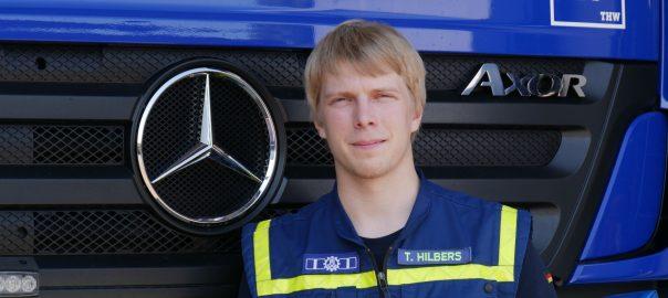 THW-Helfer Tobias Hilbers. Foto: Uwe Roth
