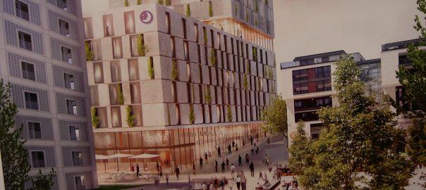 1. Preisträger Turm Mailänder Platz mit Fassadenbegrünung Stuttgart RKW Architektur + Düsseldorf. Foto: Uwe Roth