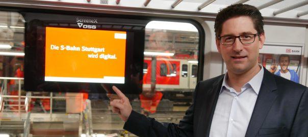 Der Stuttgarter S-Bahn-Chef Dirk Rothenstein setzt auf eine digitalisierte Fahrgastinformation. Foto: Uwe Roth