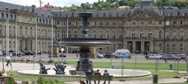Einer der beiden sanierten Schlossplatzbrunnen in Stuttgart. Foto: Dominique Leibbrandt