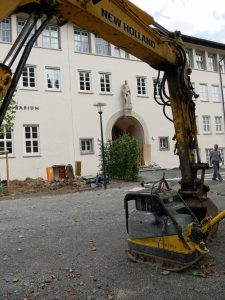 Letzte Bauarbeiten am Goethe-Gymnasium Ludwigsburg. Foto: Uwe Roth