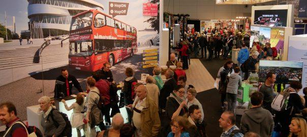 Kommunen aus der Region Stuttgart präsentieren sich auf der Touristikmesse CMT in Stuttgart. Foto: Uwe Roth