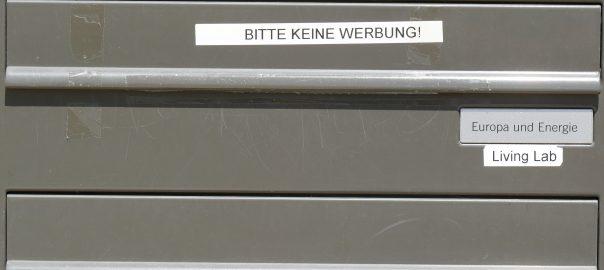 Unscheinbare Geschäftsstelle: Briefkasten Living Lab in Ludwigsburg. Foto: Uwe Roth